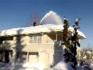 How to get a Snowblower on a Roof