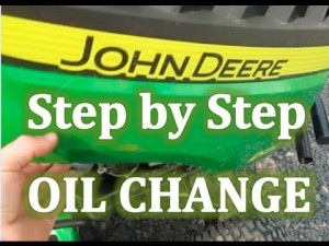 John Deere Snow Thrower Oil Change